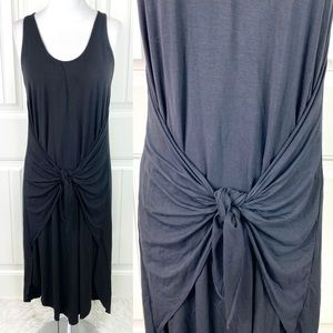 Do+Be Sleeveless Tank Tie Front Midi Cruise Dress